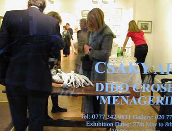 'Menagerie' at Csaky Art, Cork Street, London 2002